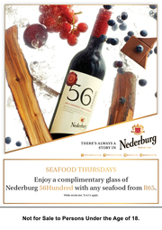 Fba6545 Trade Nederburg 5600 Peak Meal Deal Leo's Bistro A5 Table Talker