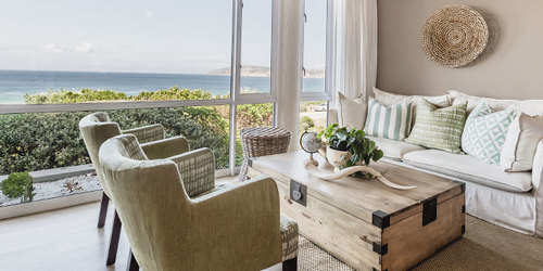 The Robberg Beach Lodge Lounge Area