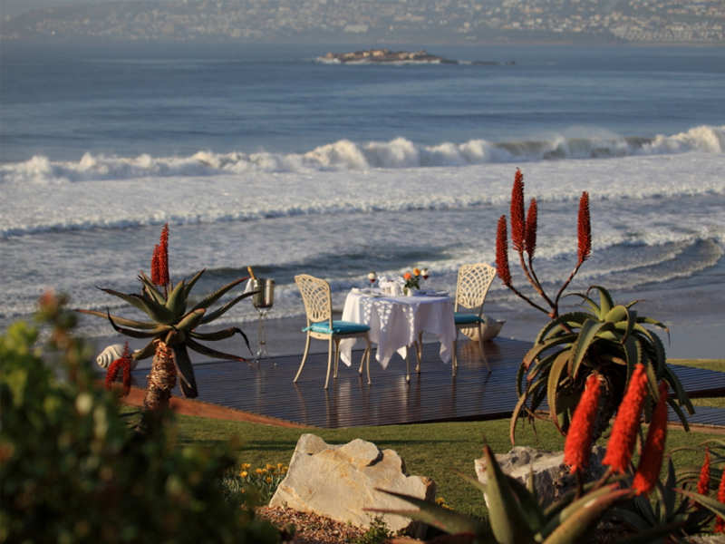 Garden Route Mossel Bay Accommodation African Oceans Manor On The Beach Facilities Restaurant Dining Dinner Romantic