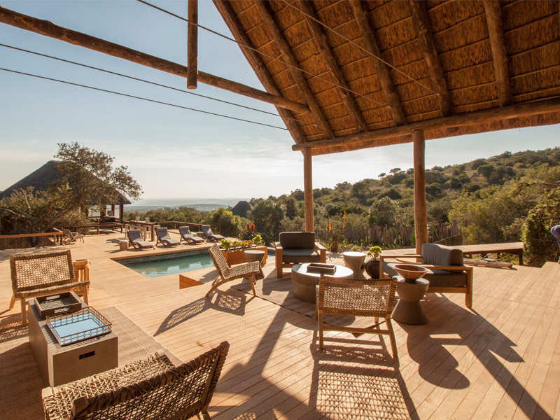 Amakhala Game Reserve Bukela Game Lodge Deck View Pool Bush