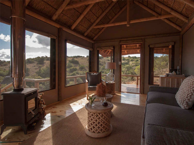 Amakhala Game Reserve Bukela Game Lodge Luxury Safari Tent Lounge