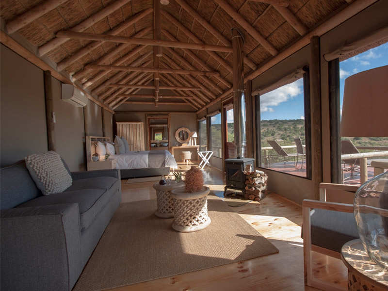 Amakhala Game Reserve Bukela Game Lodge Luxury Safari Tent Lounge View