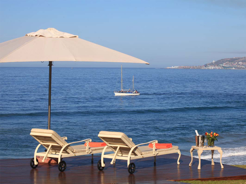 Garden Route Mossel Bay Accommodation African Oceans Manor On The Beach Exterior Lounge Beach Sea View