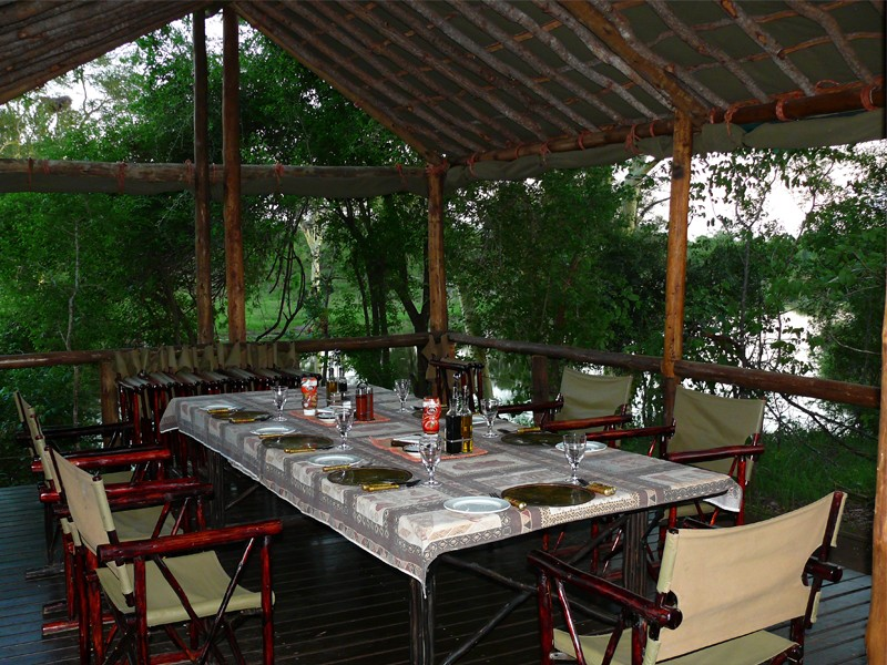 Mozambique Accommodation Great Limpopo National Park Machampane Wilderness Camp Dining