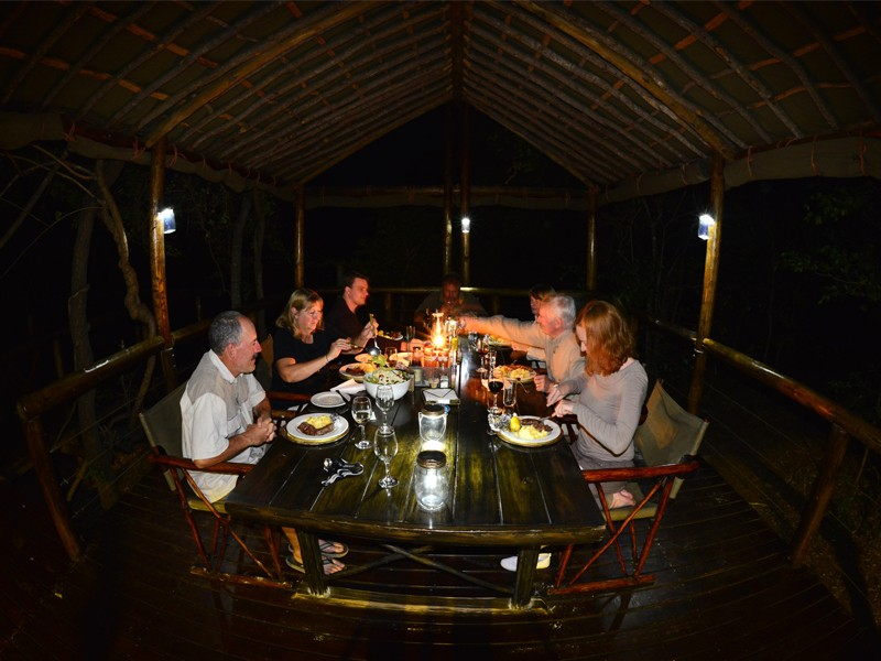 Mozambique Accommodation Great Limpopo National Park Machampane Wilderness Camp Tent Dining