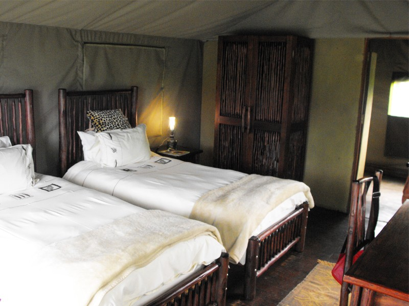 Mozambique Accommodation Great Limpopo National Park Machampane Wilderness Camp Tent Bedroom